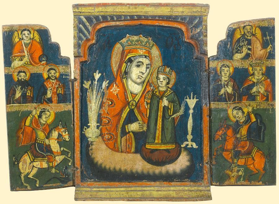 Знаменитая болгарская икона Неувядающий цвет.  3 лилии присутствуют.