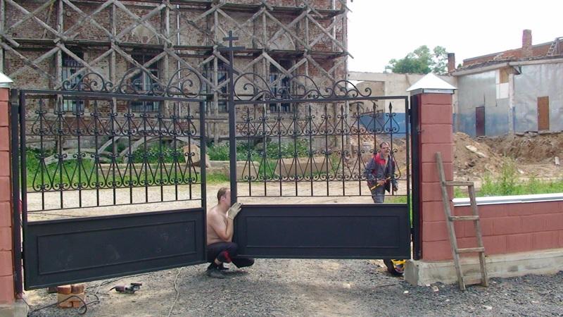 Как установить вьездный ворота проэкты ворот и калиток в одессе